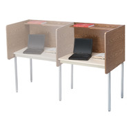 Smith Carrel 01195  Maximum Privacy Adder Carrel Adj Height- Now with Black Edge