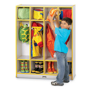 Jonti Craft 0268JCWW Rainbow Coat Locker with 4 Sections