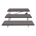 "Midwest Folding TFR48 TransFold Standard Choral Risers Three Level 48""W"