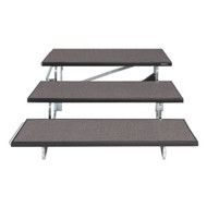 """Midwest Folding TFR48 TransFold Standard Choral Risers Three Level 48""""W"""