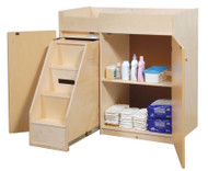 Changing Table with Slide Out Steps Steffy Wood SWP1039S