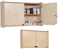 Locking Wall Storage Cabinet Steffy Wood SWP1424