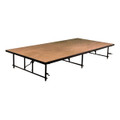 TransFold Rectangle Portable Stage Hardboard Deck Midwest T3416H
