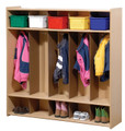 5 Section Locker Steffy Wood SWP7154 (Shown with optional totes).