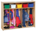 Toddler 5 Section Locker Steffy Wood SWP7158 (Shown with optional totes).
