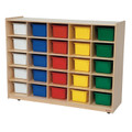Wood Designs WD16003 Storage Unit with 25 Assorted Trays