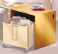 Book Return Unit CDBR32 Ironwood Manufacturing (Shown with optional book cart).