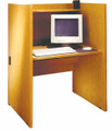 Study Computer Carrel Base LC36 Ironwood Manufacturing