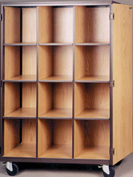 Mobile 1000 Series Closed Cubical Storage with Locks 1044-CL Ironwood Manufacturing