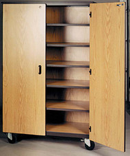 Mobile 2000 Series Closed General Storage with Locks 2041-CL Ironwood Manufacturing