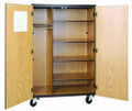 Mobile 4000 Series Closed Teacher&#039;s Storage with Locks 4085-CL Ironwood Manufacturing