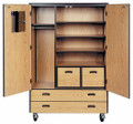 Mobile 4000 Series Closed Teacher's Storage with Locks 4089-CL Ironwood Manufacturing