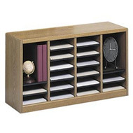 Safco 9311 E-Z Stor Wood Literature Organizer 24 Compartments