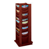 Safco 4335 Solid Wood Rotating Display - 48 Pockets