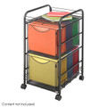 Safco 5212 Onyx Mesh File Cart with 2 File Drawers