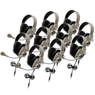 Califone 3066AVT-10L Classroom Ten Pack Deluxe Stereo Headsets without Case