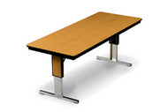 Plywood Board Conference Table Adjustable Height Midwest TLA305EF