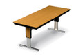 Plywood Board Conference Table Adjustable Height Midwest TLA308EF