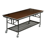 Mobile Utility Plywood Table without Riser Shelf Midwest MU308EF