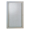 Enclosed Satin Aluminum Single Door Fabric Tackboard Ghent PA13624F
