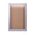 Single Door Concealed Lighting Enclosed Bulletin Board Ghent CPA13624K