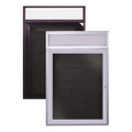 Ghent PBB2 Enclosed Letterboard with Headliner Bronze Aluminum Frame 24 x 36
