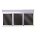 Outdoor Satin Aluminum Non Illuminated Headliner Changeable Letterboard Ghent PABX10