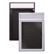 Bronze Aluminum Illuminated Headliner Changeable Letterboard Ghent PBBL2