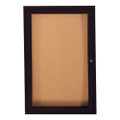 Bronze Aluminum Frame Bulletin Board Ghent PB13624VX-31