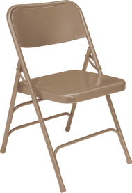 National Public Seating 300 Steel Folding Chair 17.5 Seat Height Set of 4