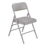 National Public Seating 1300 Vinyl Upholstered Triple Brace Premium Folding Chair
