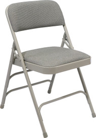 National Public Seating 2300 Fabric Upholstered Triple Brace Premium Folding Chair