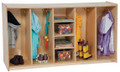 Wood Designs WD53080 Tip Me Not 4 Section Locker 36 inch high