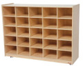 Wood Designs WD16009 25 Cubbie Storage without Trays