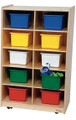 Wood Designs WD16103 Vertical Storage with 10 Assorted Trays