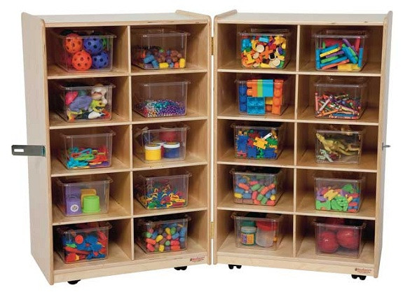 Wood Designs WD16201 Vertical Storage with Clear Trays