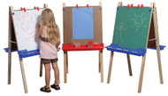 Steffy Wood ANG1034 2 Station Adjustable Whiteboard Easel