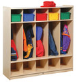 Steffy Wood SWP1057 Five Section Locker with Storage