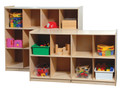 Steffy Wood SWP1413 Cubby Storage Cabinet with 8 Cubbies