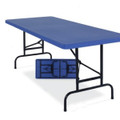 National Public Seating BTA-3072 Adjsutable Blow Molded Folding Table 30 x 72