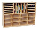 Wood Designs WD44001 Multi Sectioned Handy Storage Center with Clear Trays
