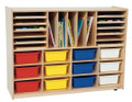 Wood Designs WD44003 Multi Sectional Handy Storage Center with Assorted Trays