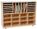 Wood Designs WD44009 Multi Sectioned Handy Storage Center without Trays