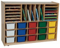 Wood Designs WD14003 Multi Storage with Assorted Trays