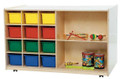 Wood Designs WD16603 Double Mobile Storage with Assorted Trays