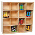 Wood Designs WD50916 16 Cubby Deep Storage