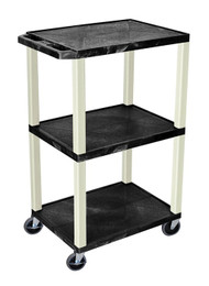 H Wilson WT42 Utility Cart with 3 Shelves