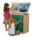 Wood Designs WD34100 Big Book Display and Storage with Chalkboard