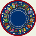 Joy Carpets 1429-E Round Reading Train Rug 7 ft 7 in