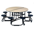 KI Uniframe UFRD58 60 inch Round Stool Cafeteria Table